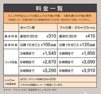 関西国際空港KIXエアポートラウンジ料金表