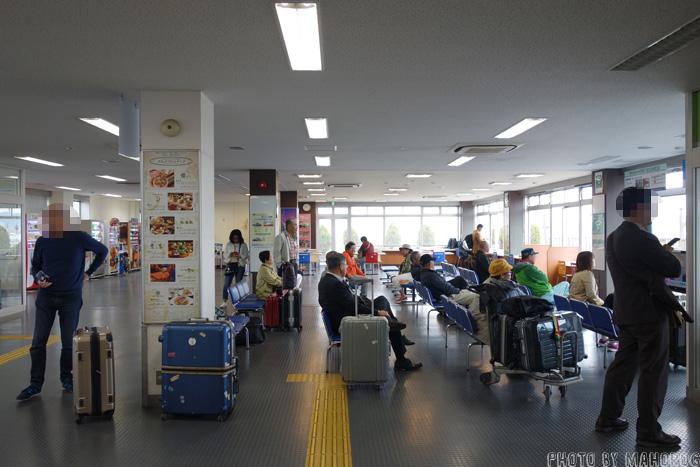 神戸空港海上アクセスターミナルの待合室
