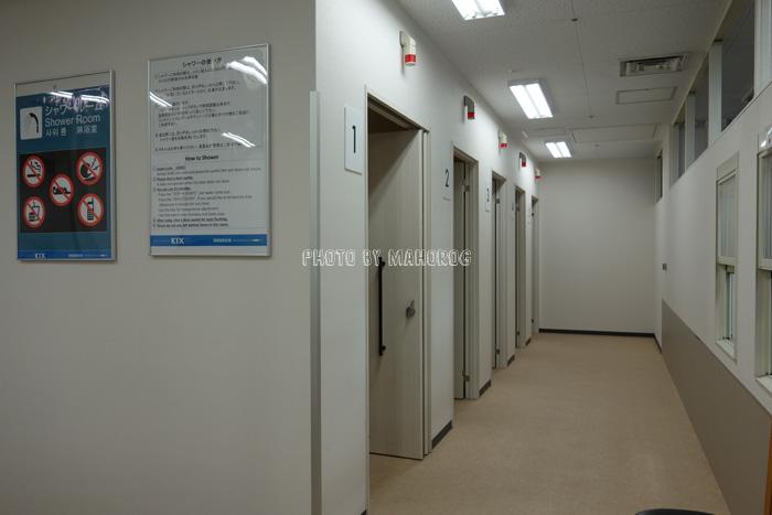 関西空港のシャワールーム