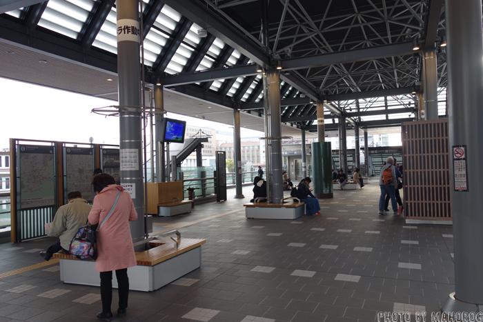 JR京都駅八条西口の休憩スペース