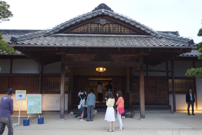 岡山後楽園の鶴鳴館