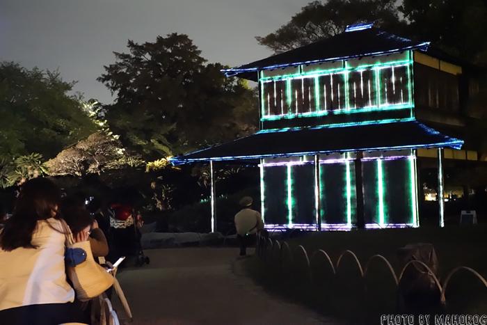 岡山後楽園 春の幻想庭園のプロジェクションマッピング