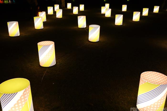 岡山城前の灯篭