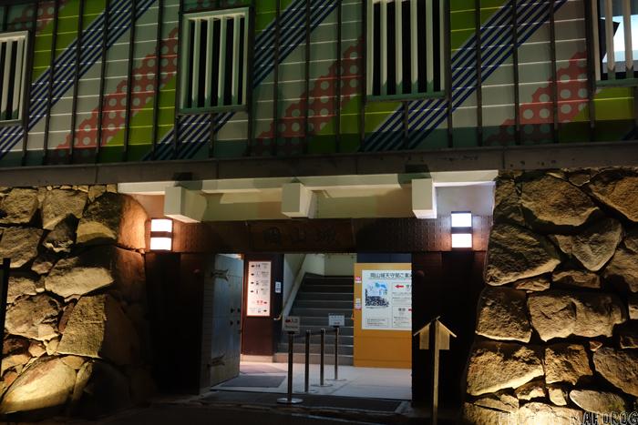 岡山城の入口