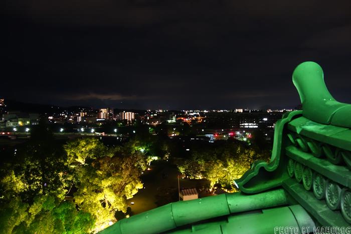岡山城から見た夜景