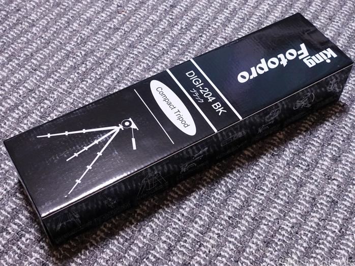 Fotopro 三脚 DIGI-204 BK 4段 小型 3WAY雲台 アルミ製 ブラック 810830のパッケージ