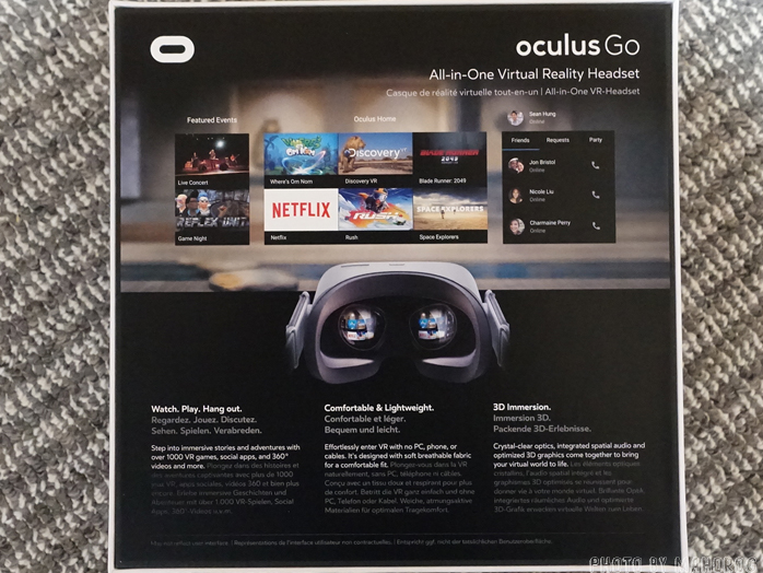 Oculus Goのパッケージ裏