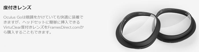 Oculus Goの度付きレンズ