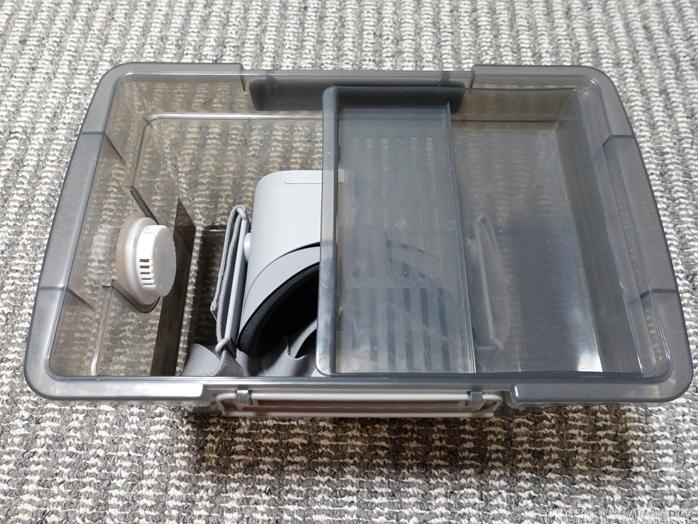 Oculus Goを保管するカメラの防湿庫