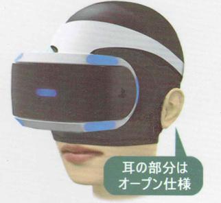 VR機の汚れ防止マスクの装着図