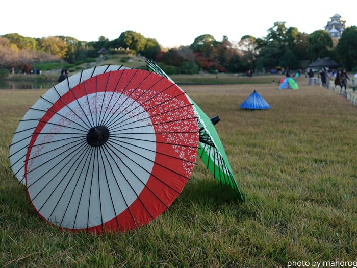 和傘の灯篭