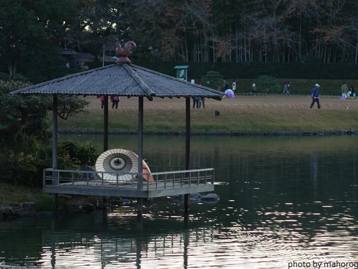 沢の池の和傘