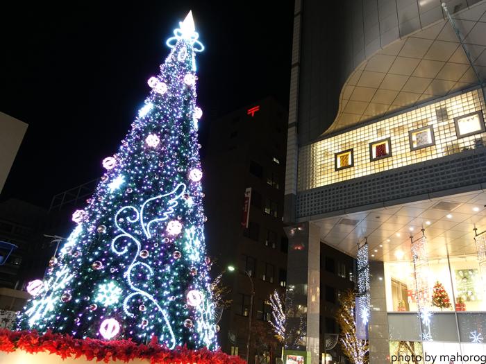 クレド岡山前のクリスマスツリー