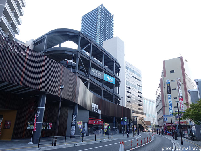広島駅南の再開発エリア