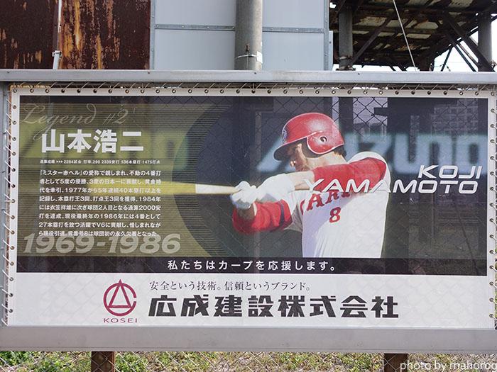 カープロードの山本浩二選手の写真