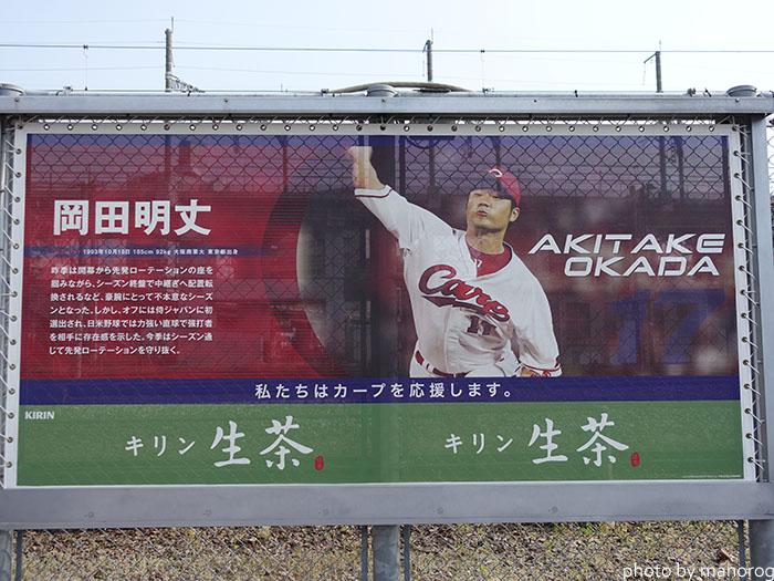 カープロードの岡田明丈選手の写真