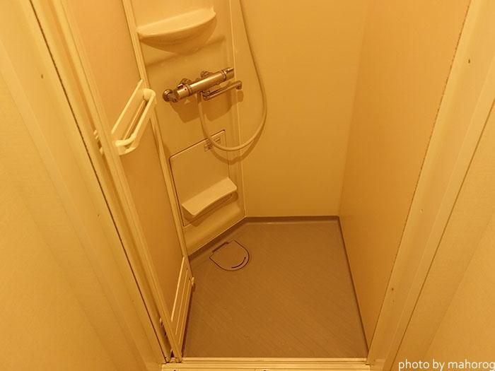 広島のお宿のシャワールーム